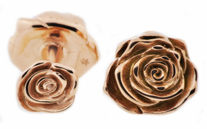 Rose Plated Rose Cufflinks