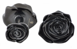 Black Plated Rose Cufflinks
