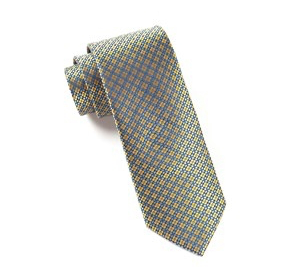 Yellow Geometric Necktie