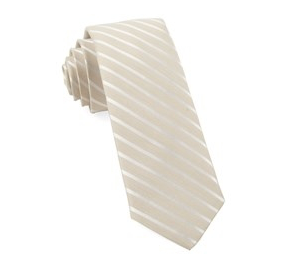 Light Champagne Striped Necktie