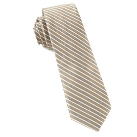 Champagne Striped Necktie