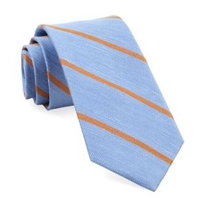 Spring Break Light Blue Stripe Necktie