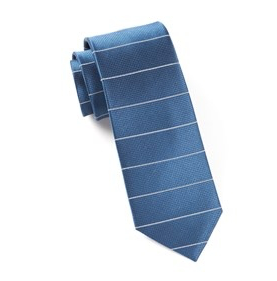 Institute Blue Stripe Necktie