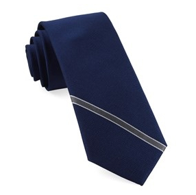 Navy Single Stripe Necktie