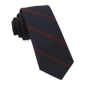 Navy Newport Stripe Midnight Necktie