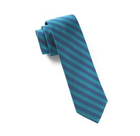 Green/Teal Tunnel Stripe Necktie