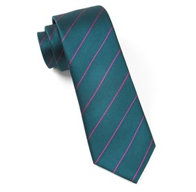 Teal Pencil Pinstripe Necktie