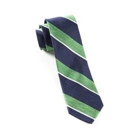 Kelly Green Patina Stripe Necktie