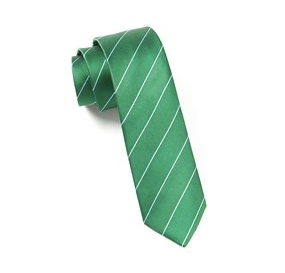 Green Pencil Pinstripe Necktie