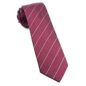 Burgundy Pencil Pinstripe Necktie