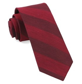Red RSVP Stripe Necktie