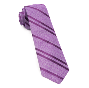 Purple Wool Path Stripe Necktie