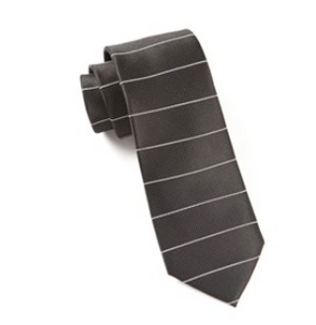 Black Institute Stripe Necktie