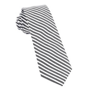 Charcoal Saddled Stripe Necktie