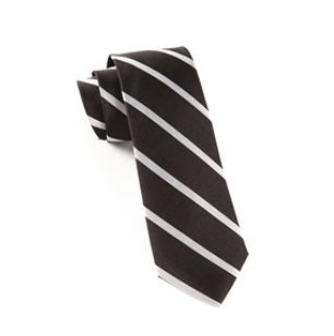 Black Trad Stripe Necktie