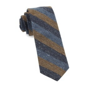Brown Varios Stripe Wool Necktie