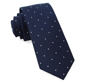 Report Navy Dotted Necktie
