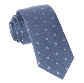 Hitch Light Blue Dotted Necktie