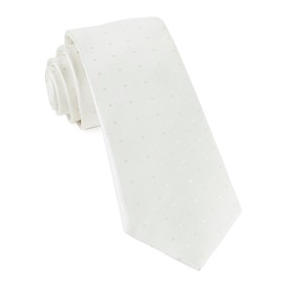 Ivory Suited Polka Dot Necktie