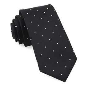 Report Black Dotted Necktie