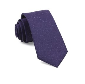 Solid Purple Flecked Necktie