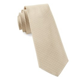 Light Champagne Mini Dots Necktie