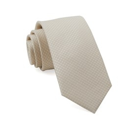 Light Champagne Crosshatch Necktie