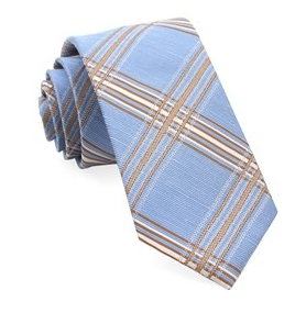 Light Blue KP Plaid Necktie
