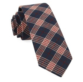 Navy Newton Plaid Necktie