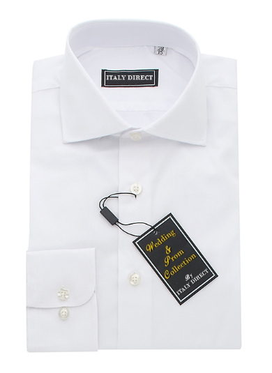 White Classic Fit Dress Shirt