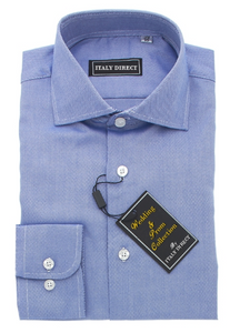 Medium Blue Classic Fit Dress Shirt
