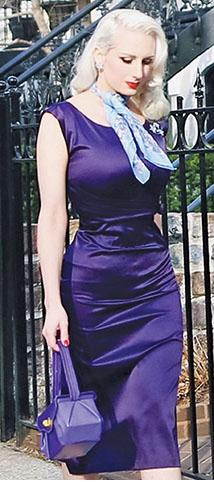Eggplant Satin Charity Fitted Dress by Stop Staring!