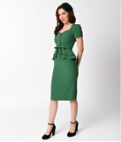Kelley Green Faith Fitted Dress by Stop Staring!