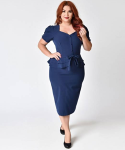 Navy Faith Fitted Dress by Stop Staring!