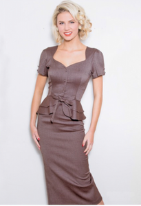 Brown Faith Fitted Dress by Stop Staring!