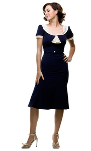 Navy Raileen Fitted Dress by Stop Staring!