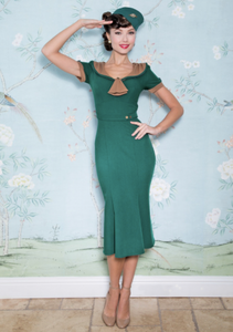 Army Green Raileen Fitted Dress by Stop Staring!