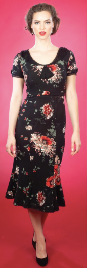 Red Floral Raileen Fitted Dress by Stop Staring!