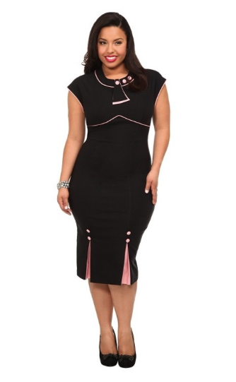 30 Bombshell Fitted Dress by Stop Staring! (4 Color Options)