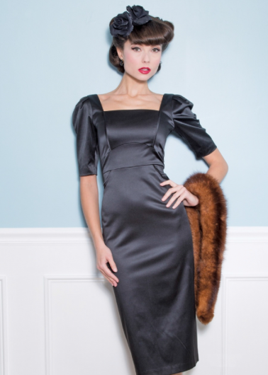 Steel Black Fitted Dress by Stop Staring!