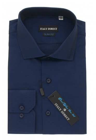 Navy Slim Fit Dress Shirt