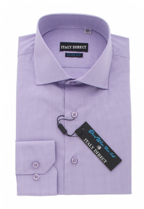 Dark Purple Slim Fit Dress Shirt
