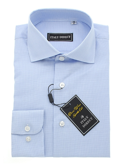 Light Blue Crosshatch Sport Fit Dress Shirt