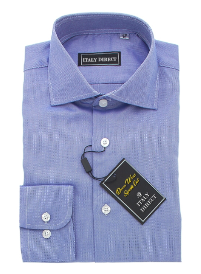 Dark Blue Sport Fit Dress Shirt
