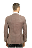 Brown Slim Fit Sport Jacket