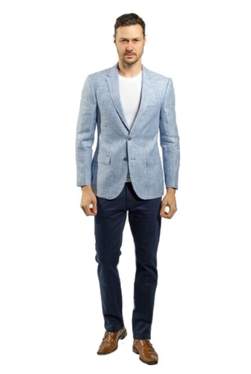 Light Blue Slim Fit Sport Jacket
