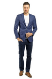 Dark Blue Slim Fit Sport Jacket