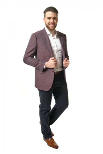Dark Red Sport Fit Sport Jacket