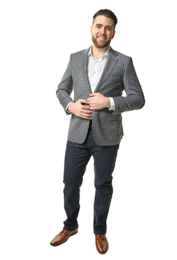 Grey Plaid Classic Fit Sport Jacket