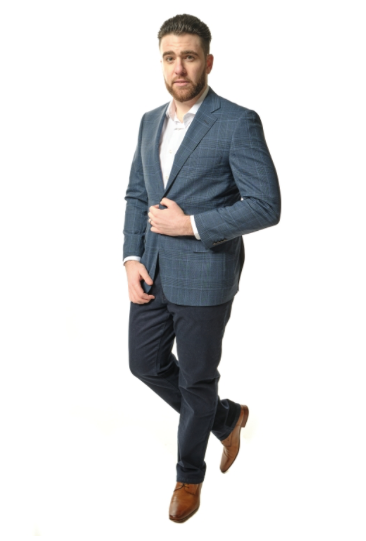 Blue Plaid Classic Fit Sport Jacket